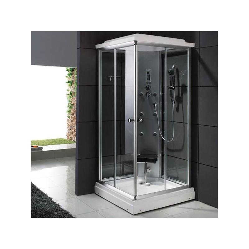Cabine de douche carrée vitrée hammam Saigon