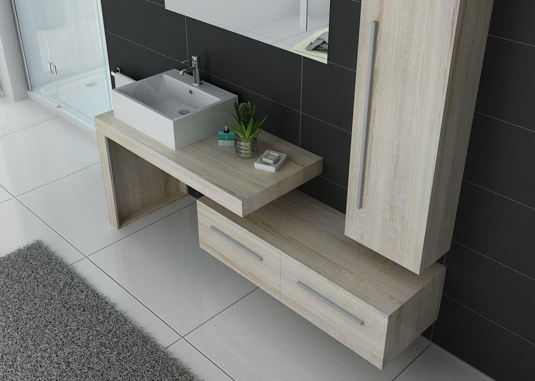 meuble de salle de bain couleur bois dis9250sc meuble de salle de bain tendance. Black Bedroom Furniture Sets. Home Design Ideas