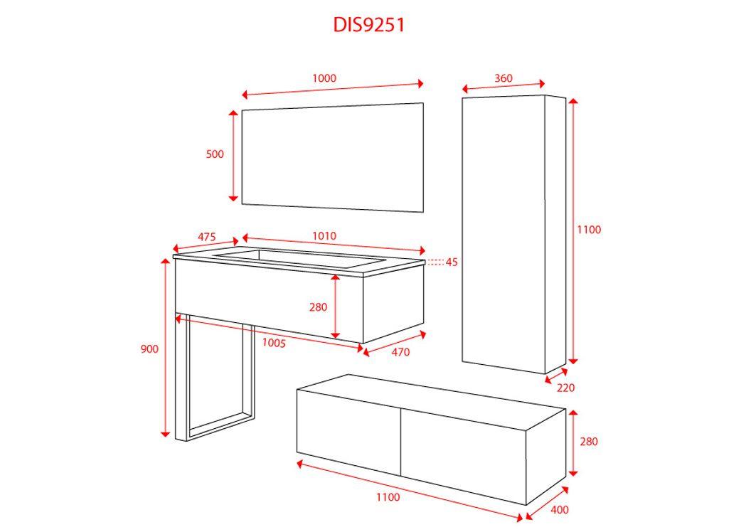 Meuble de salle de bain scandinave 1 vasque meuble style for Meuble de salle de bain dimension
