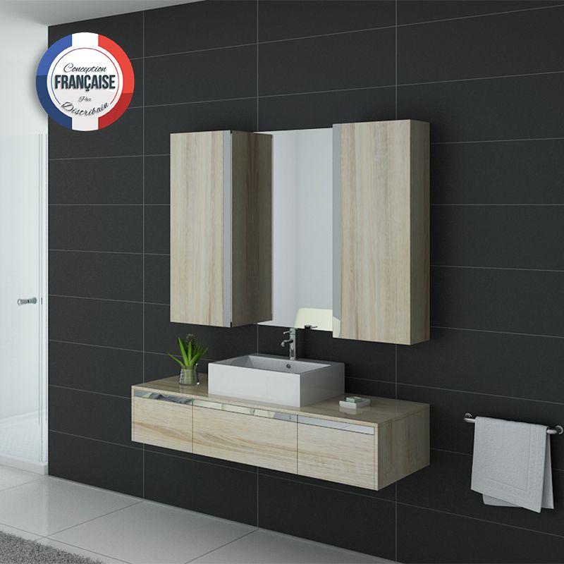 Meuble salle de bain DIS9650SC coloris Scandinave