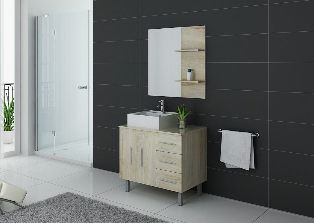 meuble de salle de bain simple vasque ref florence sc. Black Bedroom Furniture Sets. Home Design Ideas