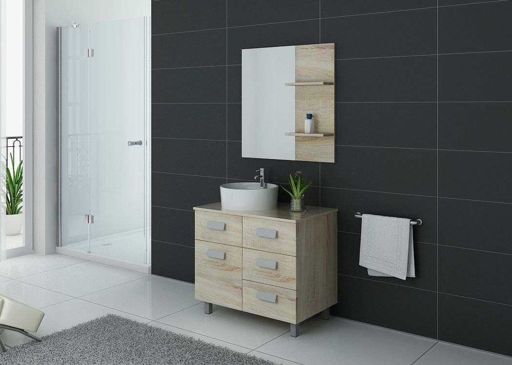 meuble de salle de bain simple vasque ref milan sc. Black Bedroom Furniture Sets. Home Design Ideas