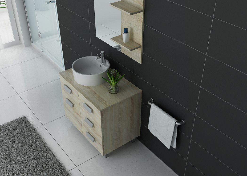 Meuble de salle de bain simple vasque ref milan sc - Bain scandinave prix ...