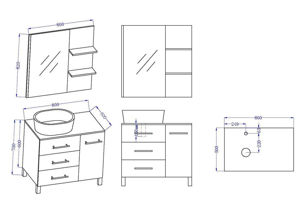 meuble de salle de bain simple vasque ref toscane sc. Black Bedroom Furniture Sets. Home Design Ideas