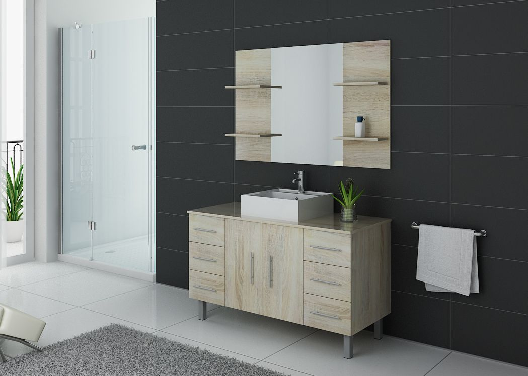 ensemble de salle de bain simple vasque sur pieds ref turin sc. Black Bedroom Furniture Sets. Home Design Ideas