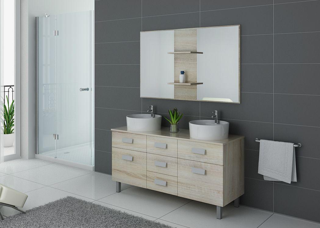 Meuble de salle de bain 2 vasques sur pieds meuble 2 - Meuble pour box internet ...