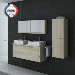 Meuble salle de bain en bois couleur scandinave DIS026-1300