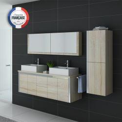 Salle de bain cocooning DIS026-1500SC coloris bois Scandinave