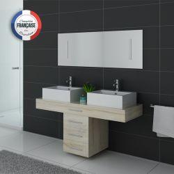 Meuble salle de bain double vasque Scandinave DIS988SC