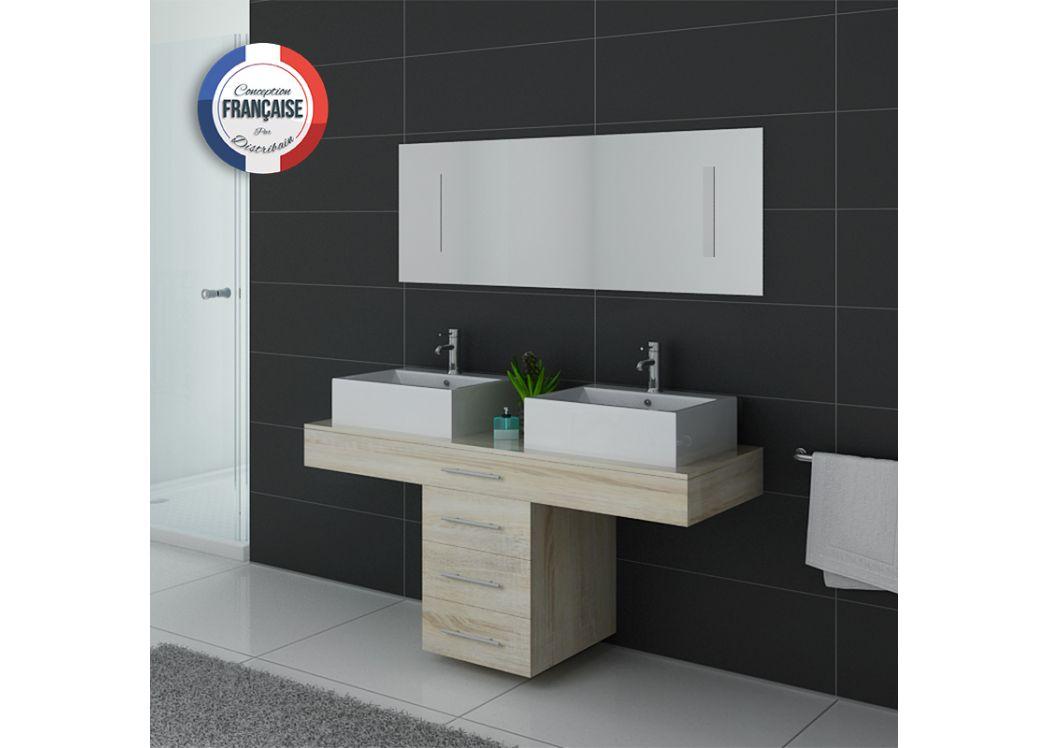 Meuble de salle de bain style scandinace, meuble de salle de bain 2 ...