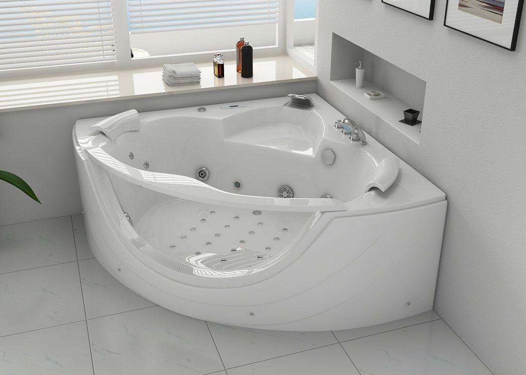 Baignoire baln o d 39 angle rio for Salle de bain baignoire d angle zen