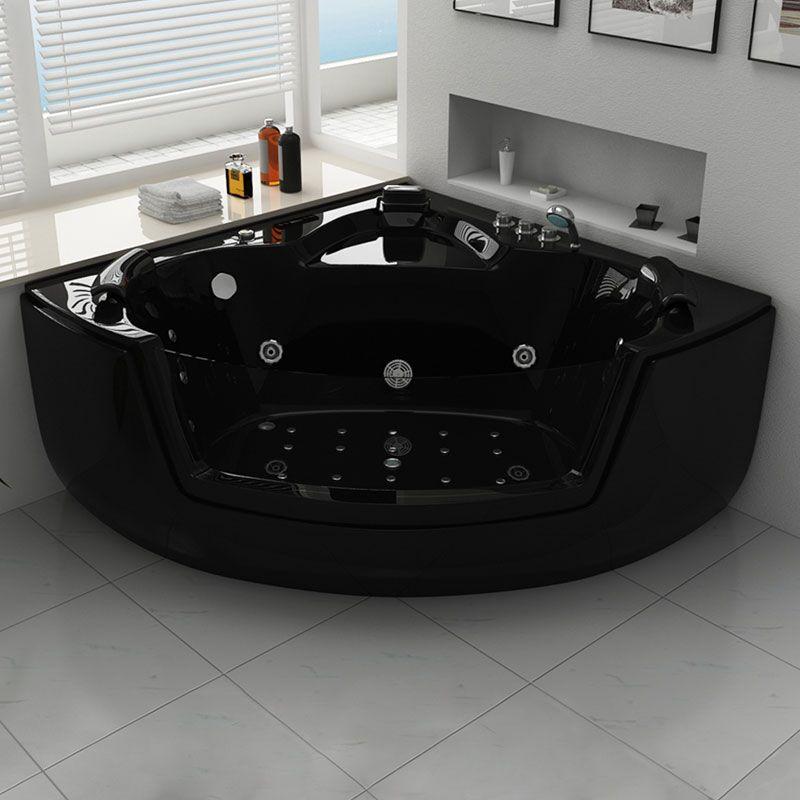 baignoire baln o d 39 angle noire belle le black. Black Bedroom Furniture Sets. Home Design Ideas