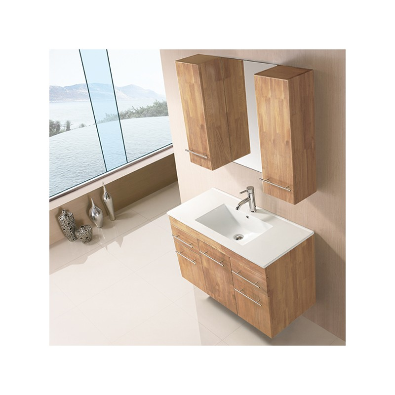 sd961bn meuble salle de bain coloris bois naturel salledebain online. Black Bedroom Furniture Sets. Home Design Ideas