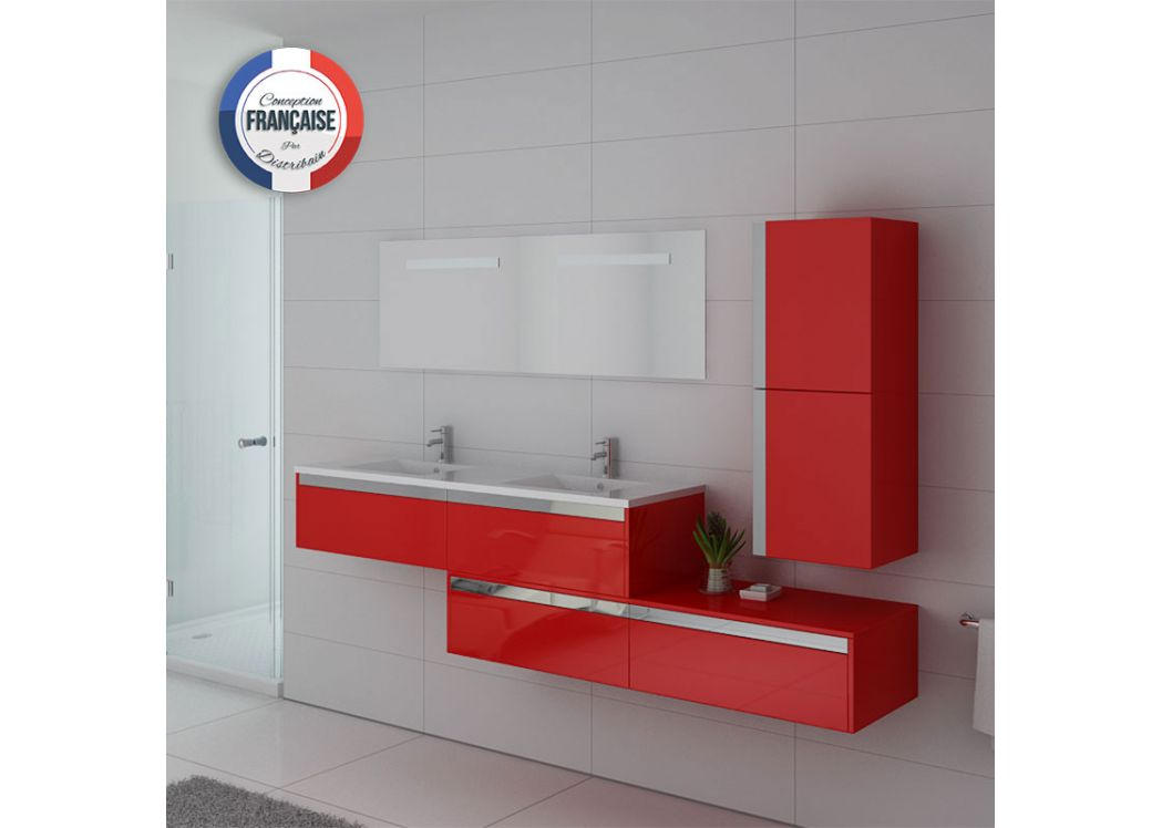 Meuble double vasque ref bellissimo co for Ensemble meuble salle de bain double vasque colonne
