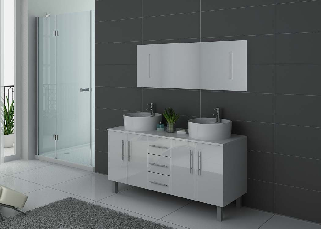 meuble de salle de bain blanc 2 vasques meuble de salle de bain blanc dis989b. Black Bedroom Furniture Sets. Home Design Ideas