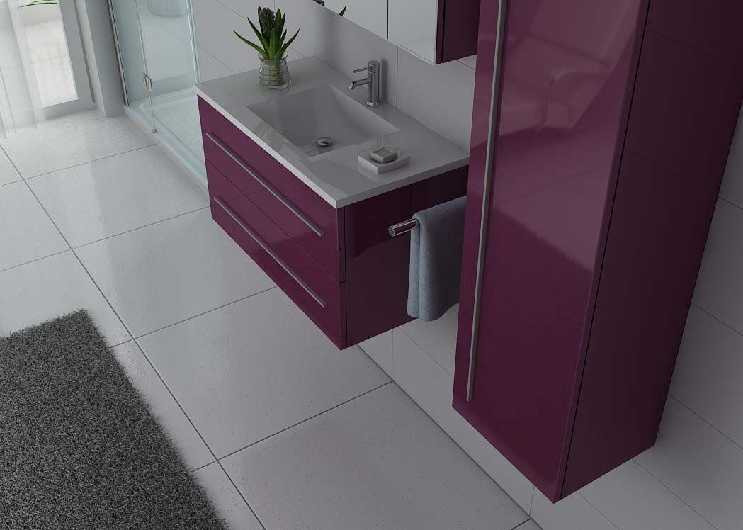Meuble salle de bain ref nova au - Meuble sdb simple vasque ...