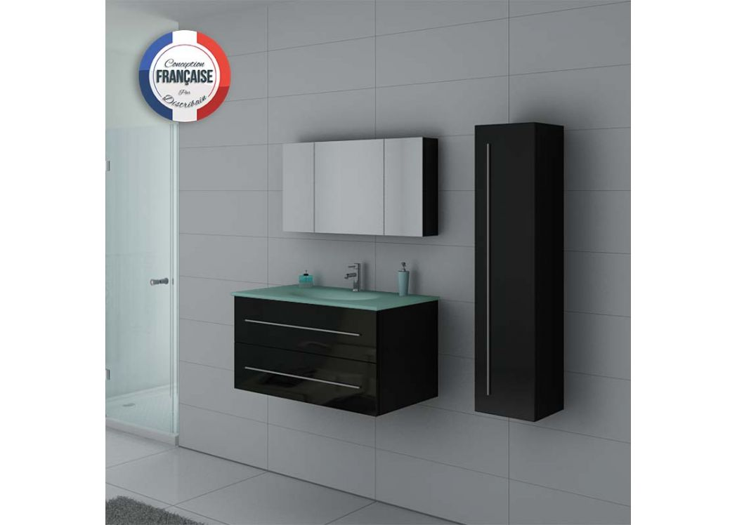 meuble de salle de bain avec vasque en verre tremp meuble avec vasque en verre ref dis983n. Black Bedroom Furniture Sets. Home Design Ideas