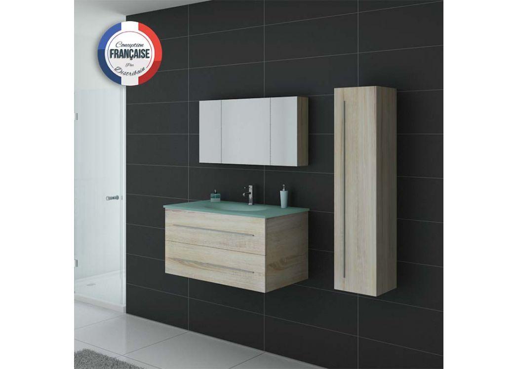 Meuble salle de bain ref dis983sc for Couleur salle de bain moderne