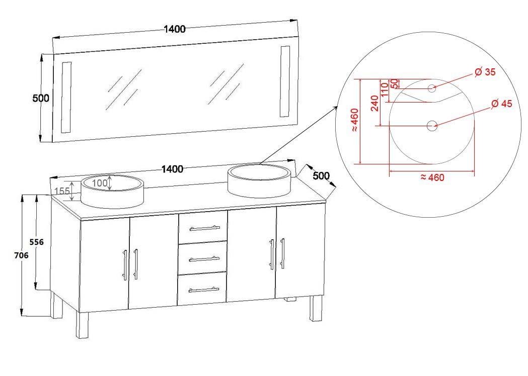Meuble de salle de bain blanc 2 vasques meuble de salle for Ensemble meuble salle de bain double vasque colonne