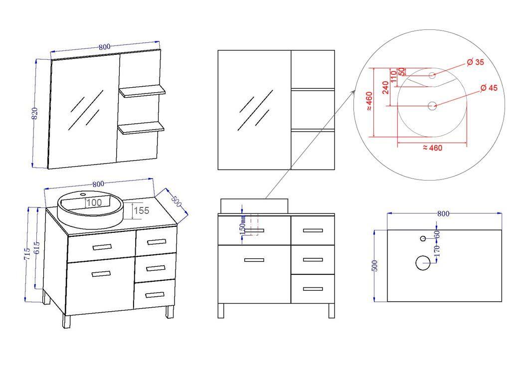 meuble de salle de bain simple vasque ref milan b. Black Bedroom Furniture Sets. Home Design Ideas