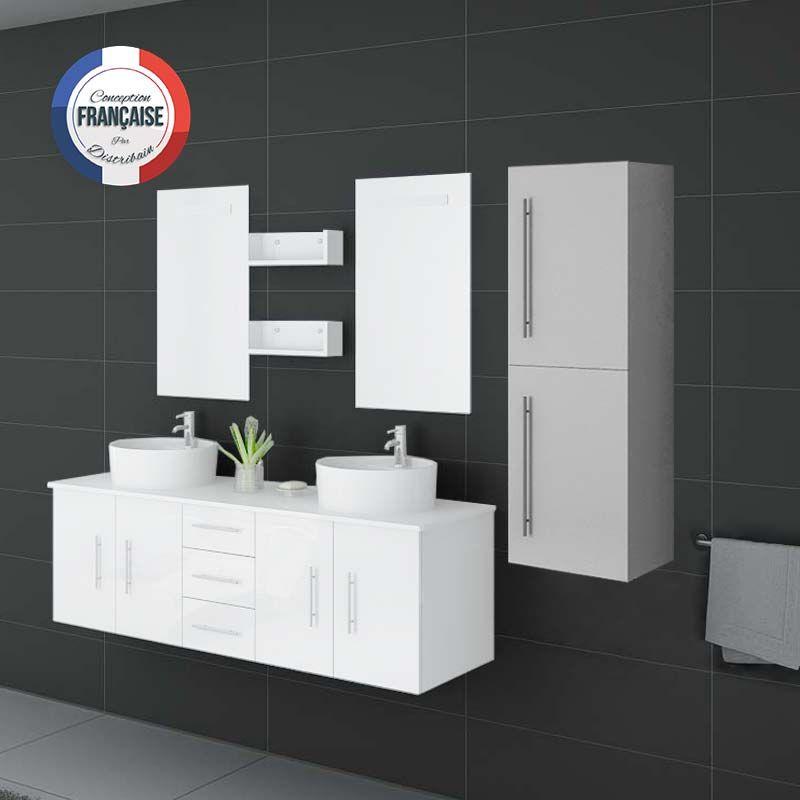 Colonne de rangement pour salle de bain blanche meuble for Colonne meuble salle de bain
