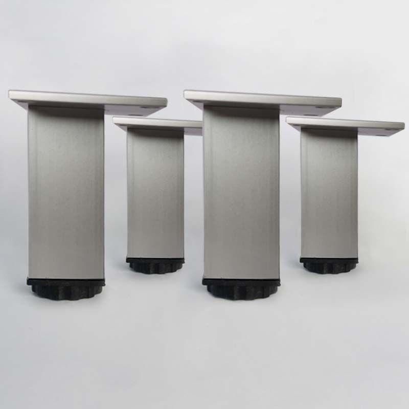 Lot de 4 pieds pour meubles carrés en 100 mm