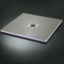 Douche à l'italienne carrée pour votre salle de bain Aqua C 120 x 120