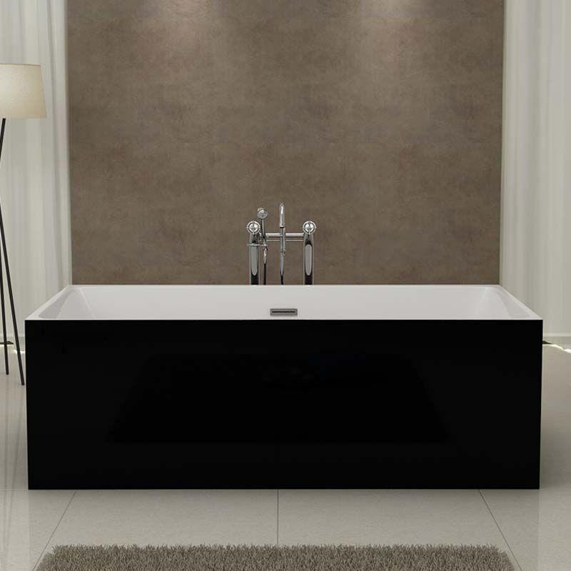 baignoire lot rectangulaire tr s graphique noire et blanche burano black. Black Bedroom Furniture Sets. Home Design Ideas
