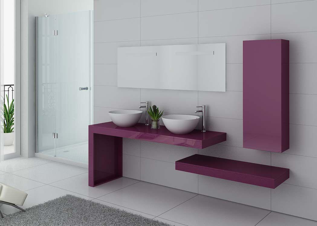 meuble salle de bain ref monza duo aubergine. Black Bedroom Furniture Sets. Home Design Ideas