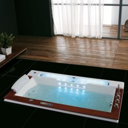 Baignoire balnéo encastrable 190x100, baignoire rectangulaire encastrable - Salledebain Online