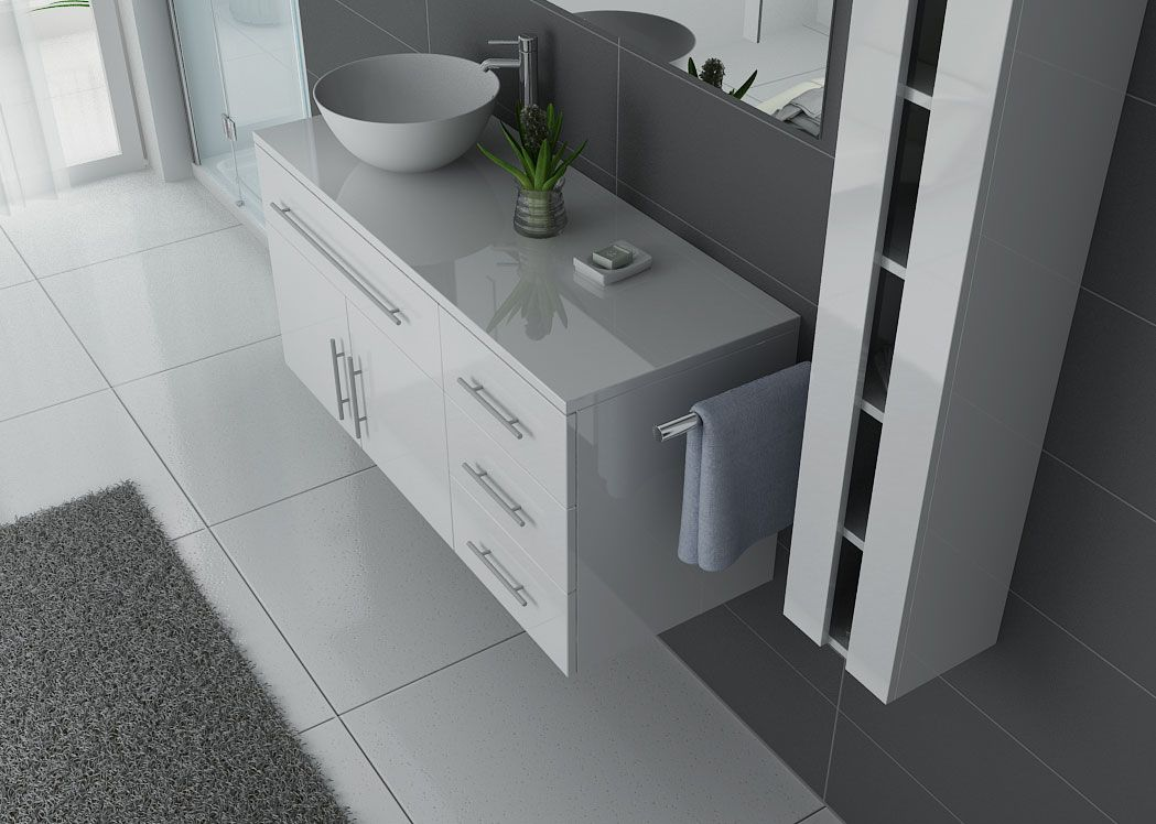 meuble salle de bain ref arezzo b. Black Bedroom Furniture Sets. Home Design Ideas