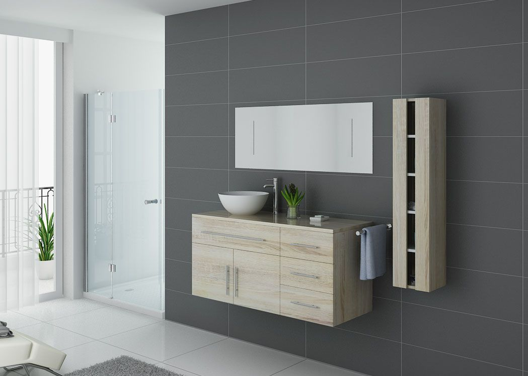 Meuble salle de bain ref arezzo sc for Meuble vasque simple