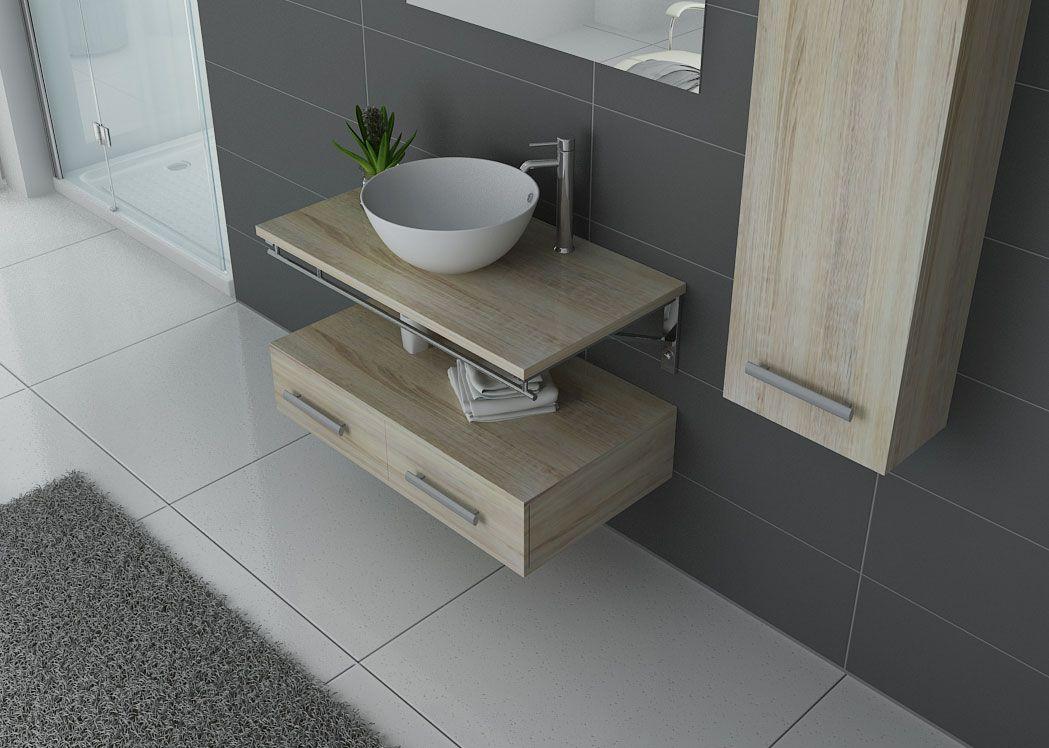 meuble salle de bain 1 vasque ref virtuose scandinave. Black Bedroom Furniture Sets. Home Design Ideas