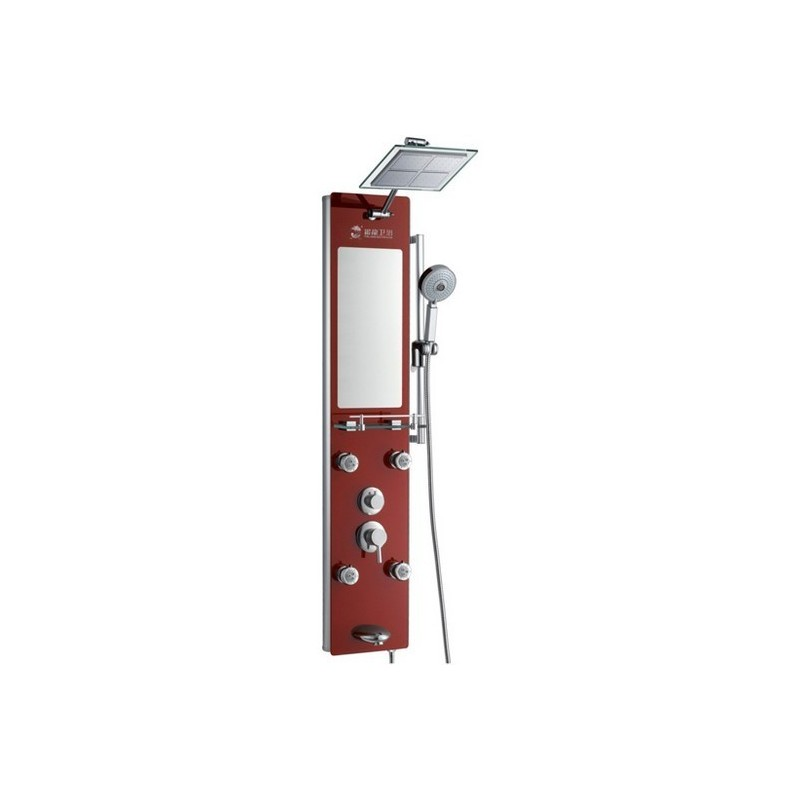 Colonne hydromassante orientables avec tablette et miroir G-616-351-R
