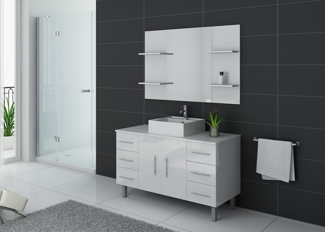 ensemble de salle de bain simple vasque ensemble de salle de bain blanc turin salledebain online. Black Bedroom Furniture Sets. Home Design Ideas