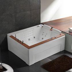 Belle baignoire balneo rectangulaire Makatea Droite