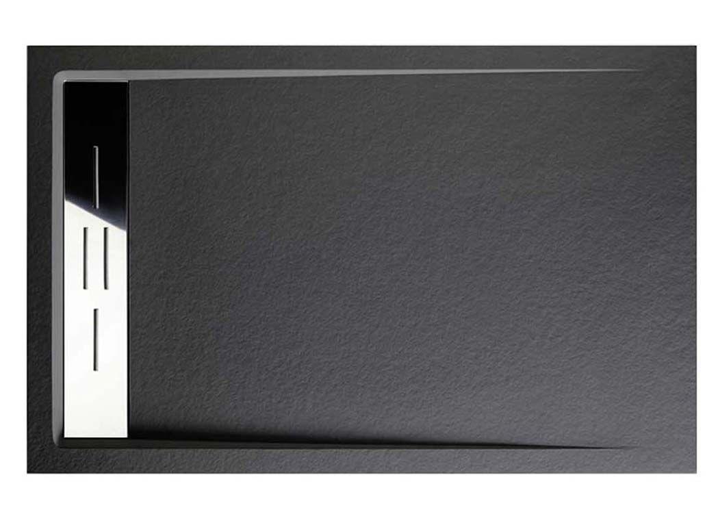 receveur de douche rectangulaire en gel coat canto graphite 140x90xm. Black Bedroom Furniture Sets. Home Design Ideas