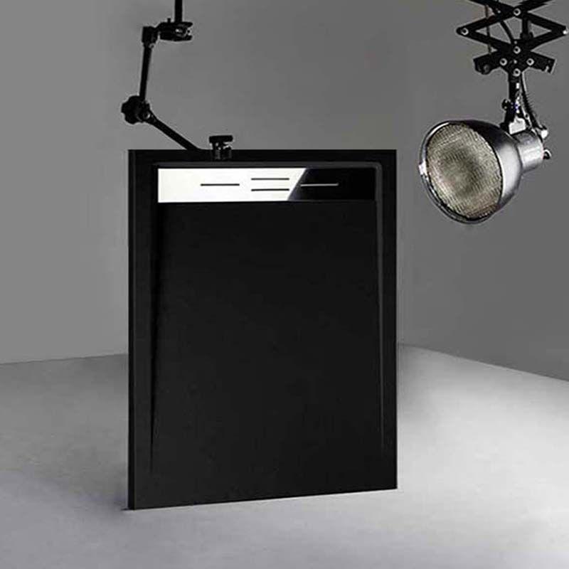 Receveur en gel coat CANTO Noir 120x90 cm