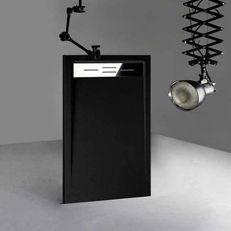 Receveur en gel coat CANTO Noir 140 x 80 cm