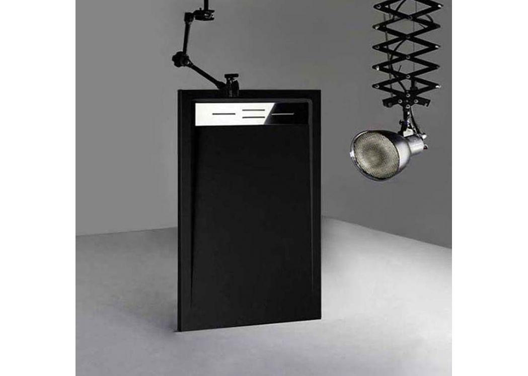 receveur de douche rectangulaire en gel coat canto noir 140x80cm. Black Bedroom Furniture Sets. Home Design Ideas