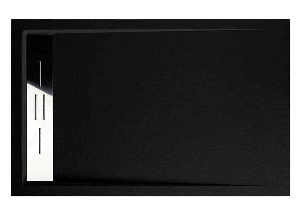 receveur de douche rectangulaire en gel coat receveur de douche noir 140x90cm. Black Bedroom Furniture Sets. Home Design Ideas