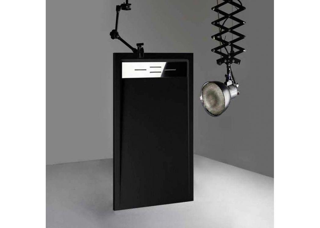 receveur de douche rectangulaire en gel coat canto noir 160x80xm. Black Bedroom Furniture Sets. Home Design Ideas