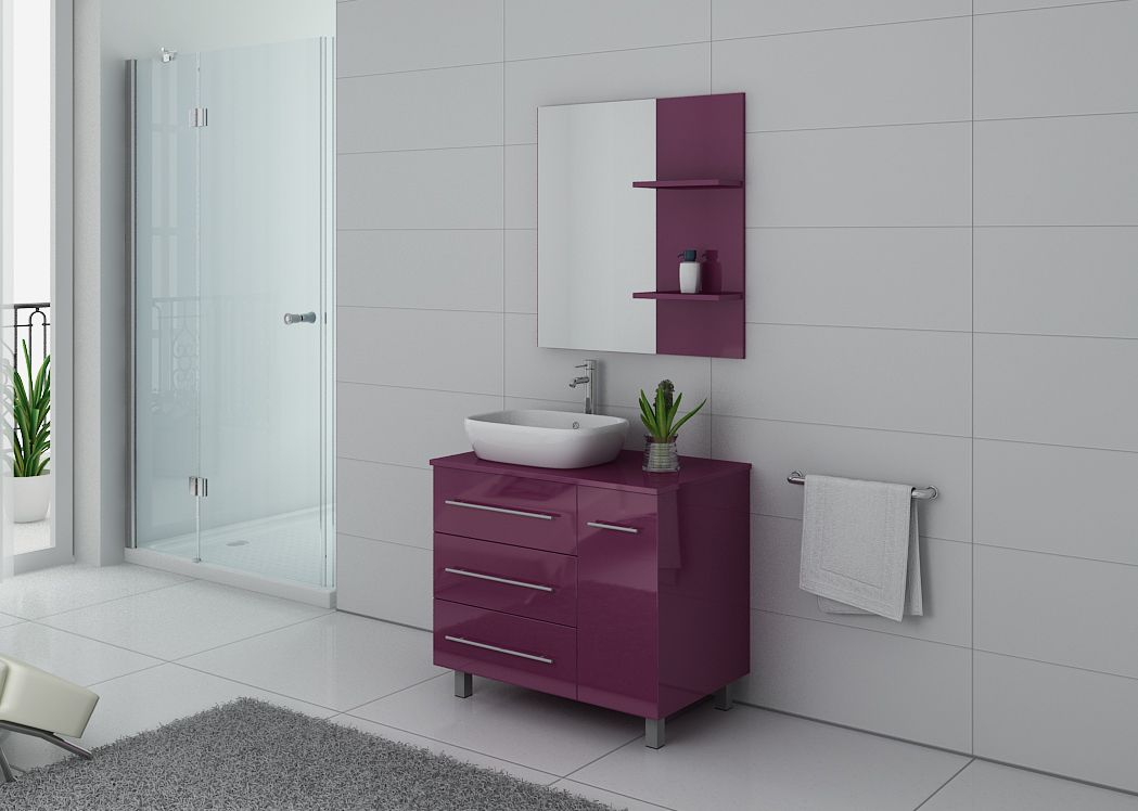 Meuble de salle de bain simple vasque ref toscane au - Meuble sdb simple vasque ...