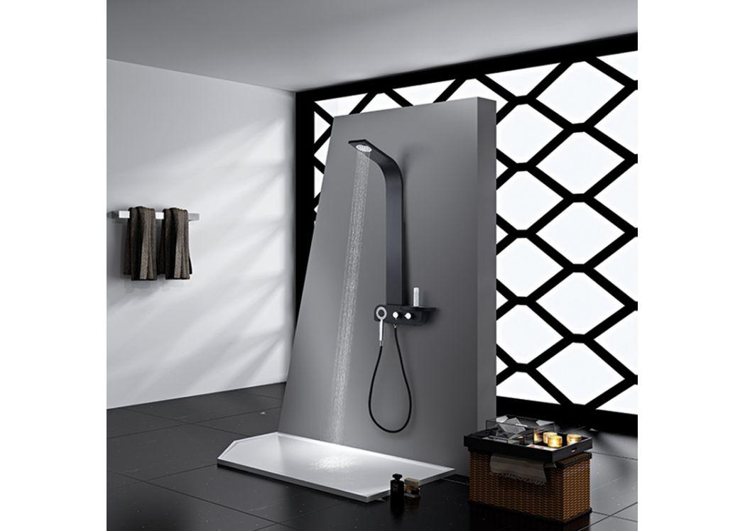 colonne de douche noire au design contemporain s300 3. Black Bedroom Furniture Sets. Home Design Ideas