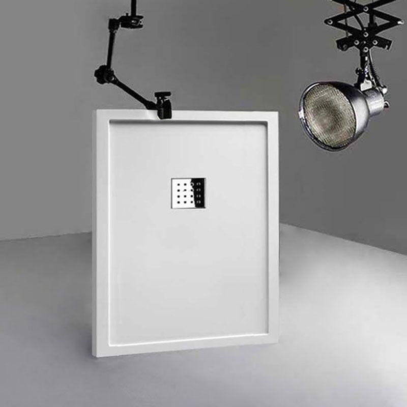 Receveur en gel coat LISO ENMARCADO Blanc 120x90