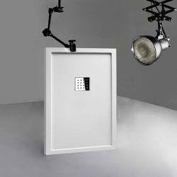 Receveur en gel coat LISO ENMARCADO Blanc 120x80