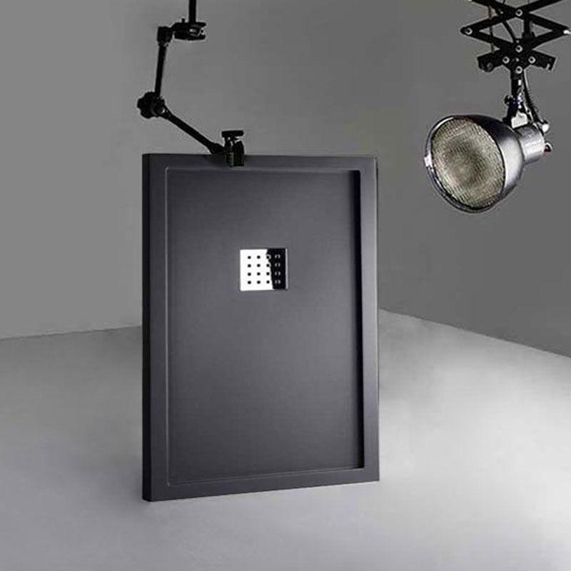 Receveur en gel coat LISO ENMARCADO Graphite 1200x800mm