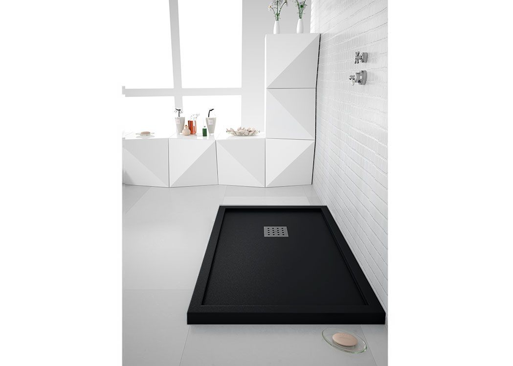 receveur de douche rectangulaire 140x80cm en gel coat avec. Black Bedroom Furniture Sets. Home Design Ideas
