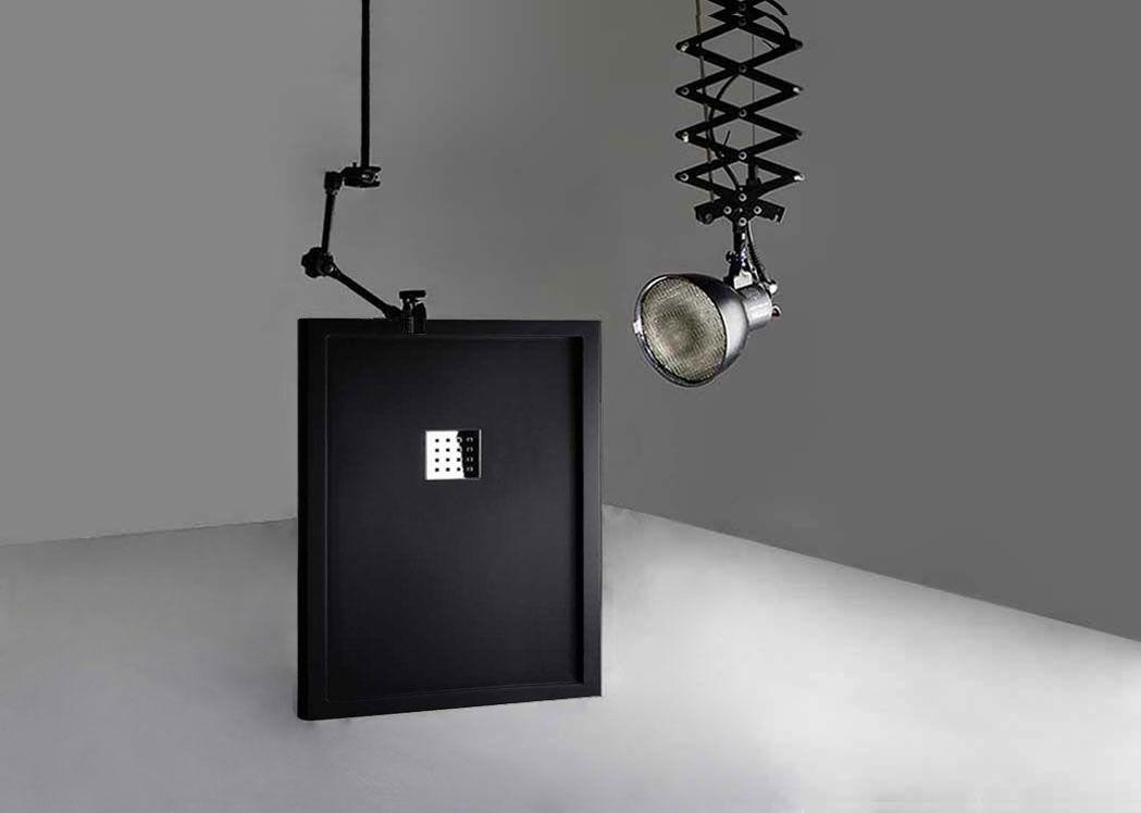 receveur de douche rectangulaire 120x90cm en gel coat avec rebords liso enmarcado noir. Black Bedroom Furniture Sets. Home Design Ideas