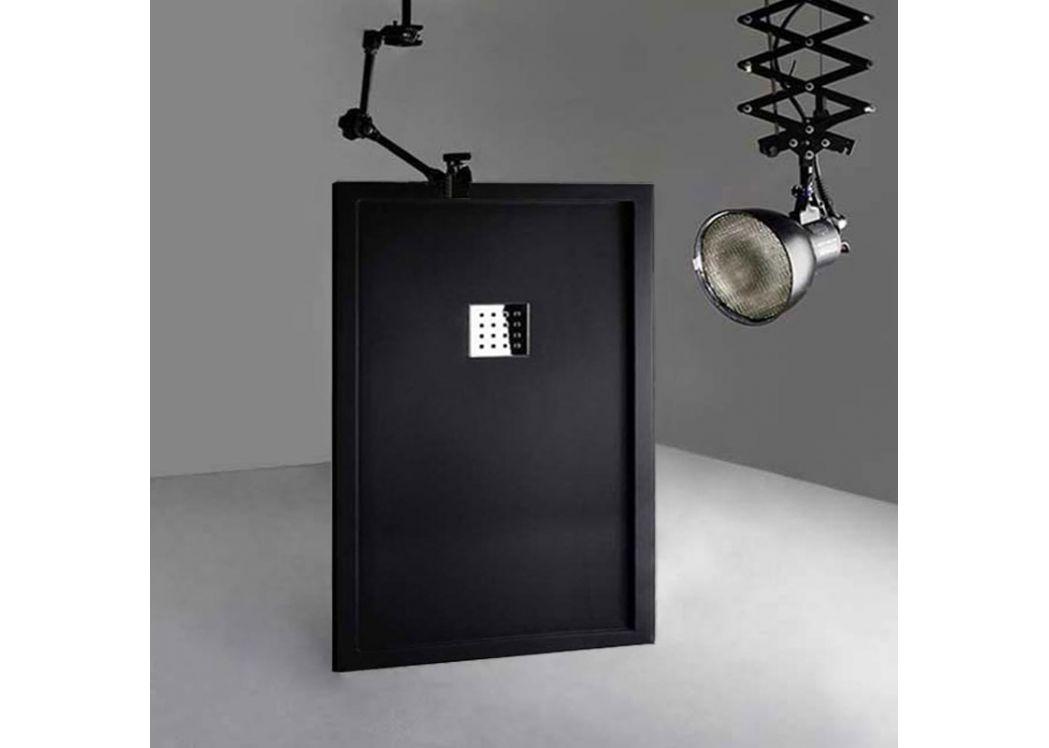 receveur de douche rectangulaire 140x90cm en gel coat avec rebords liso enmarcado noir. Black Bedroom Furniture Sets. Home Design Ideas